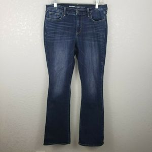 Old Navy 8 curvy mid rise boot cut jeans stretchy